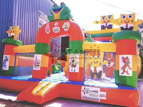 Şişme Oyun Parkı Sünger Bob Ve Kurbağa Evi