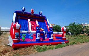 Şişme Dev Kaydıraklı Oyun Parkı